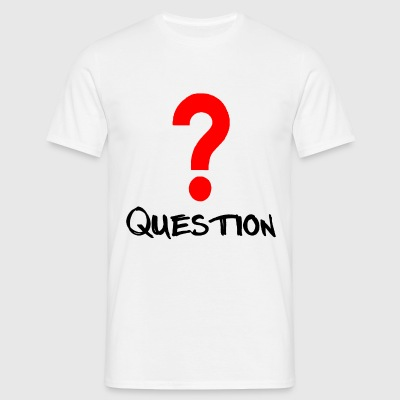 Question Rot T-Shirts - Männer T-Shirt