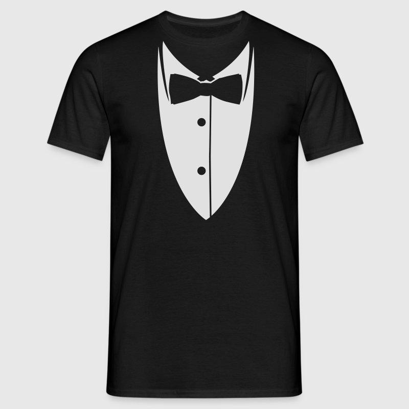 kragen mit fliege aus anzug sakko t shirt spreadshirt. Black Bedroom Furniture Sets. Home Design Ideas