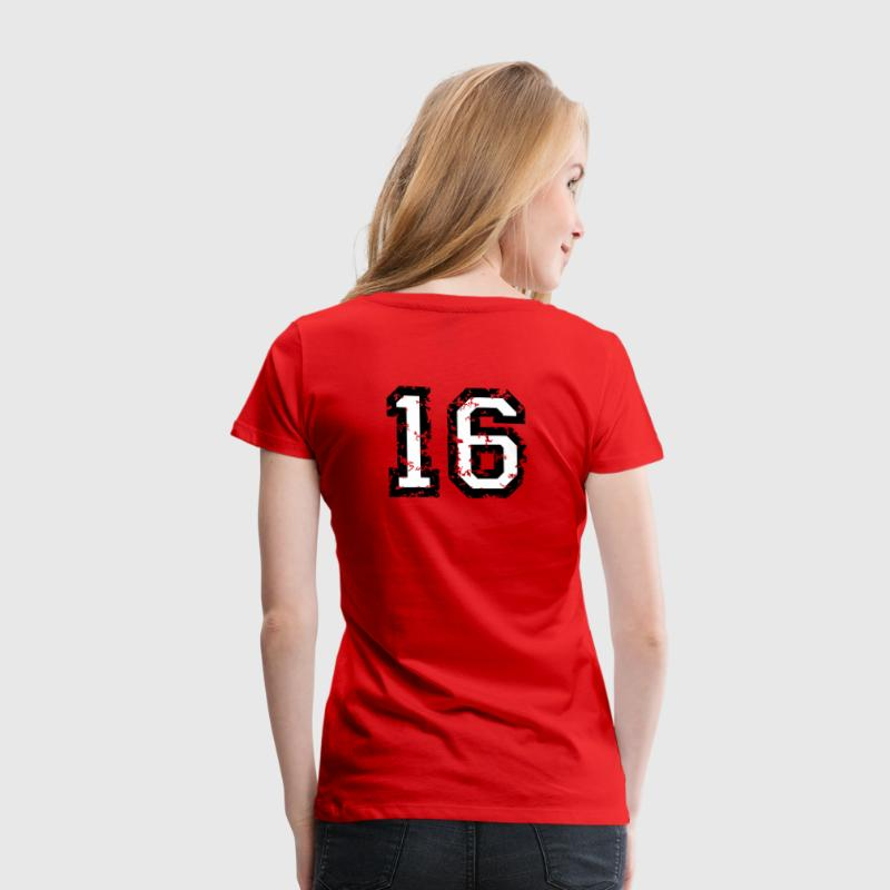 The Number Sixteen - No. 16 (two-color) white T-Shirts - Women's Premium T-Shirt
