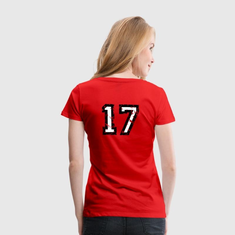 The Number Seventeen - No. 17 (two-color) white T-Shirts - Women's Premium T-Shirt