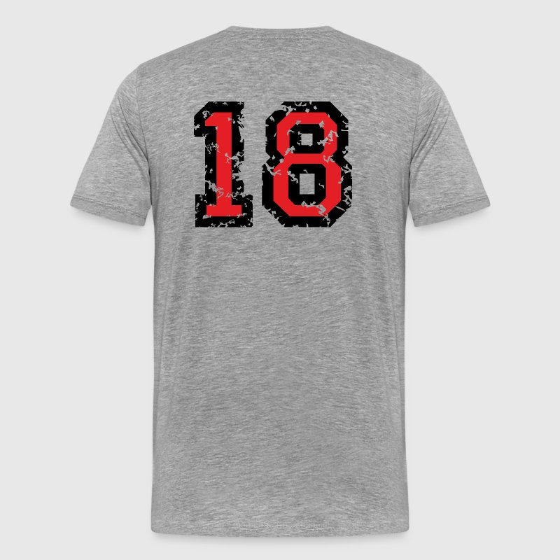 The Number Eighteen - No. 18 (two-color) red T-Shirts - Men's Premium T-Shirt