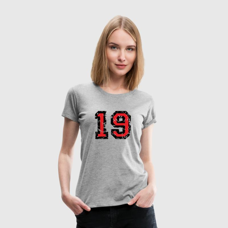 The Number Nineteen - No. 19 (two-color) red T-Shirts - Women's Premium T-Shirt