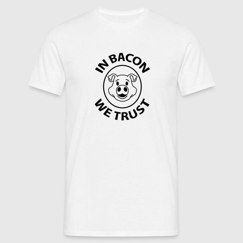 bacon trust T-shirts - Herre-T-shirt