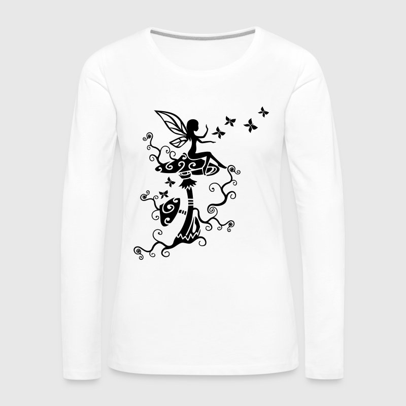 Elfe Fee Magic Mushroom Frühling Sommer Pilz Magi - Frauen Premium Langarmshirt