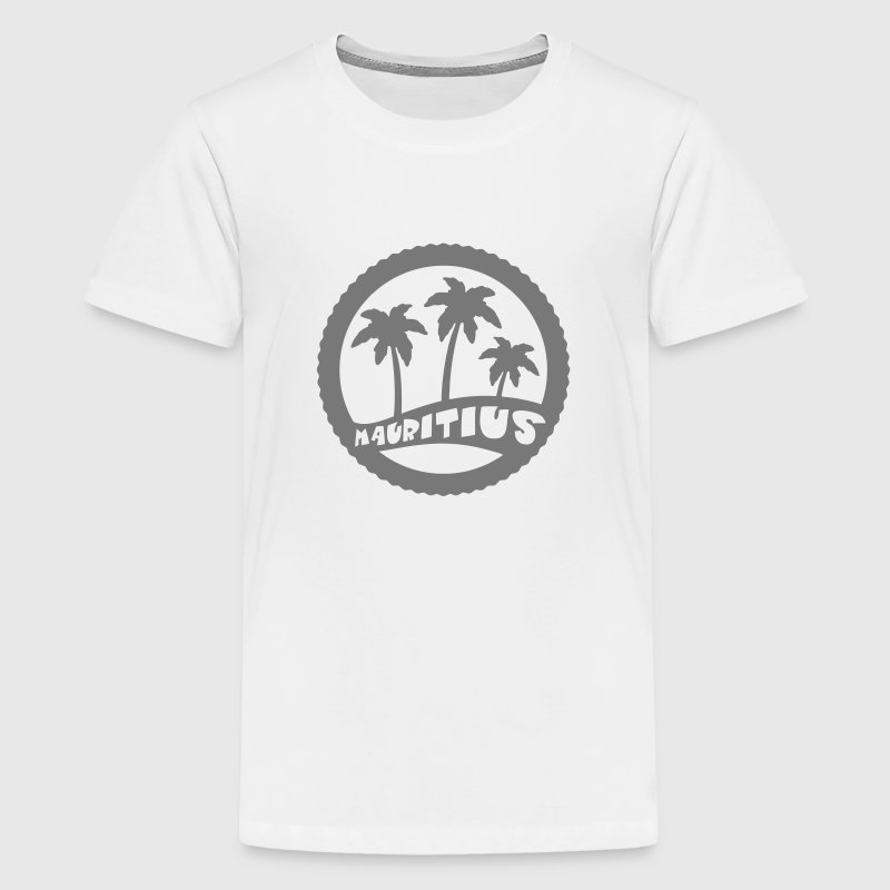 Mauritius palm trees Shirts - Teenage Premium T-Shirt