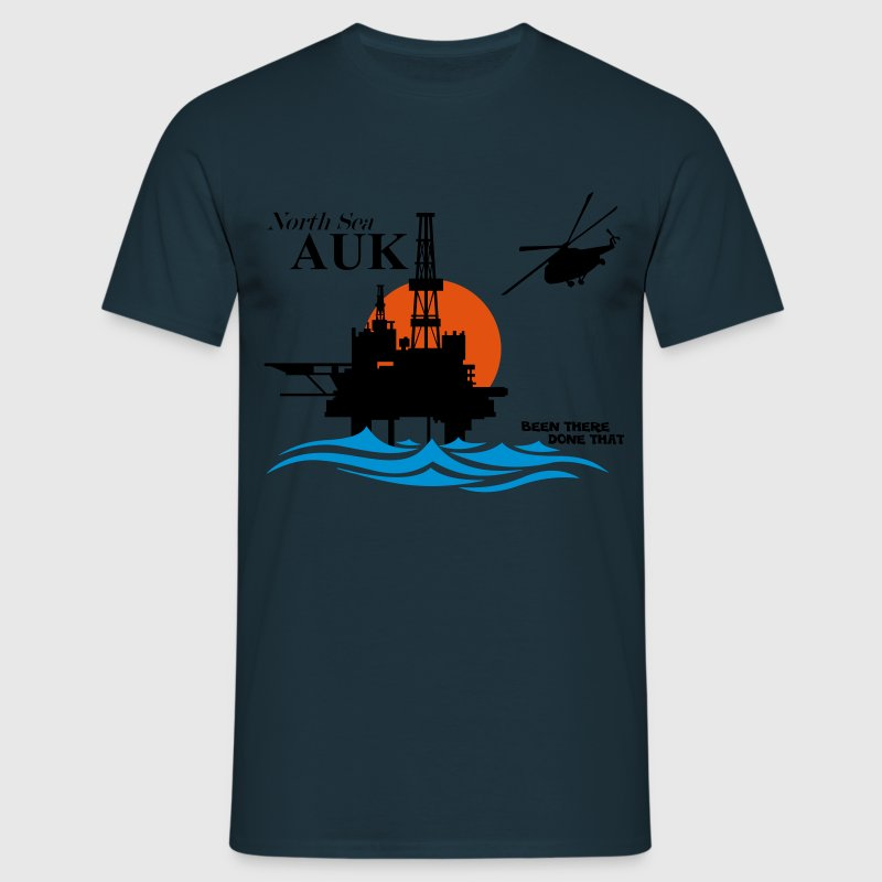 Auk North Sea Oil Rig Platform - Men's T-Shirt