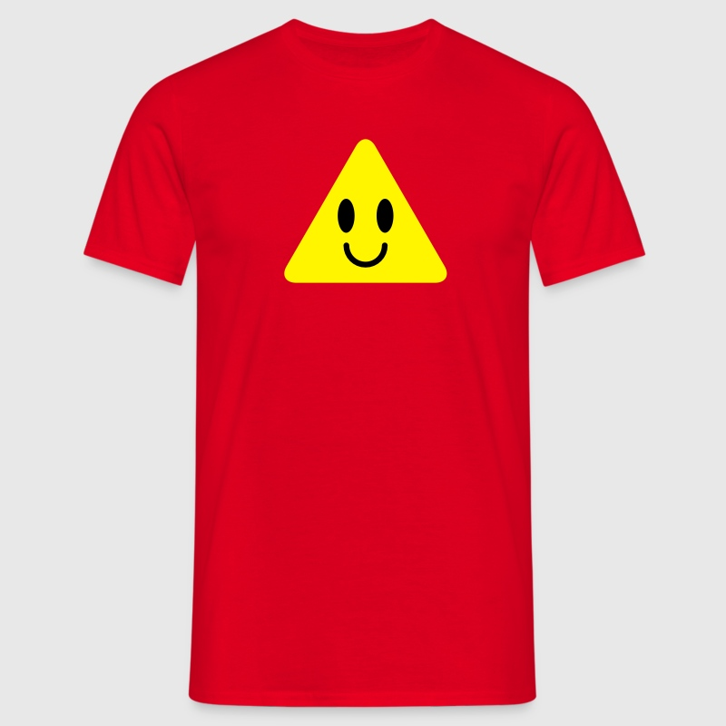 cute funny yellow triangle smiley smiling T-Shirts - Men's T-Shirt