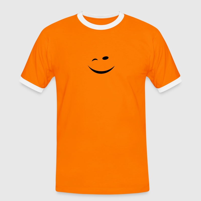 Winking face T-Shirts - Men's Ringer Shirt