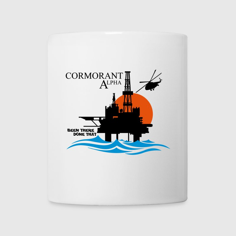 Cormorant North Sea Oil Rig Platform - Mug