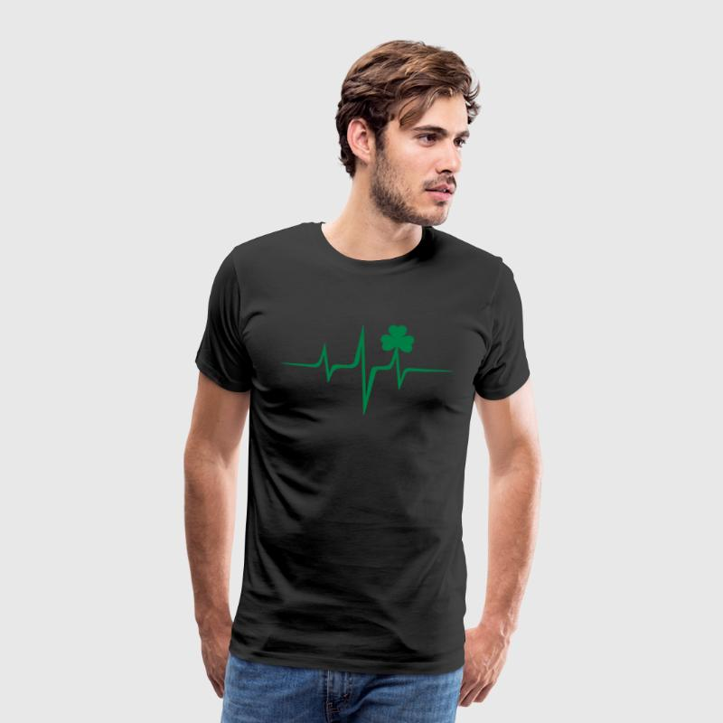 Patricks Day Kleeblatt Puls Frequenz Irish Folk - Männer Premium T-Shirt