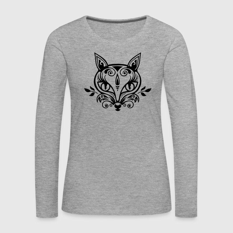 Fox What does the fox say? forest spring summer Long Sleeve Shirts - Women's Premium Longsleeve Shirt