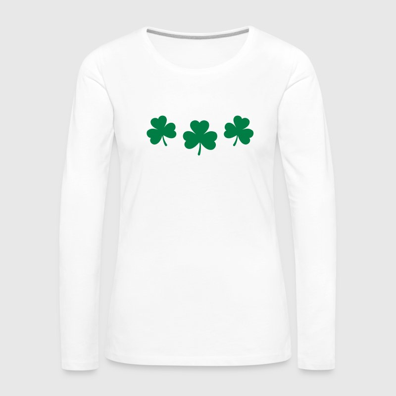 St. Patricks Day Shamrock Clover Lucky Charm Paddy Tee shirts manches longues - T-shirt manches longues Premium Femme