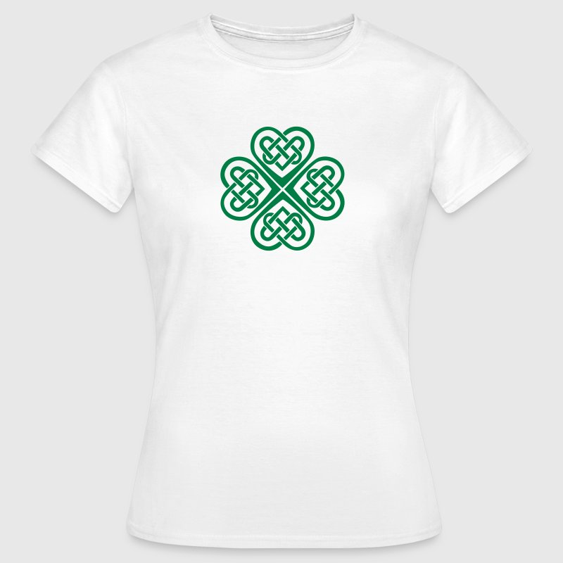 St Patricks Day Shamrock Celtic Heart Eternal Knot T-shirts - T-shirt dam