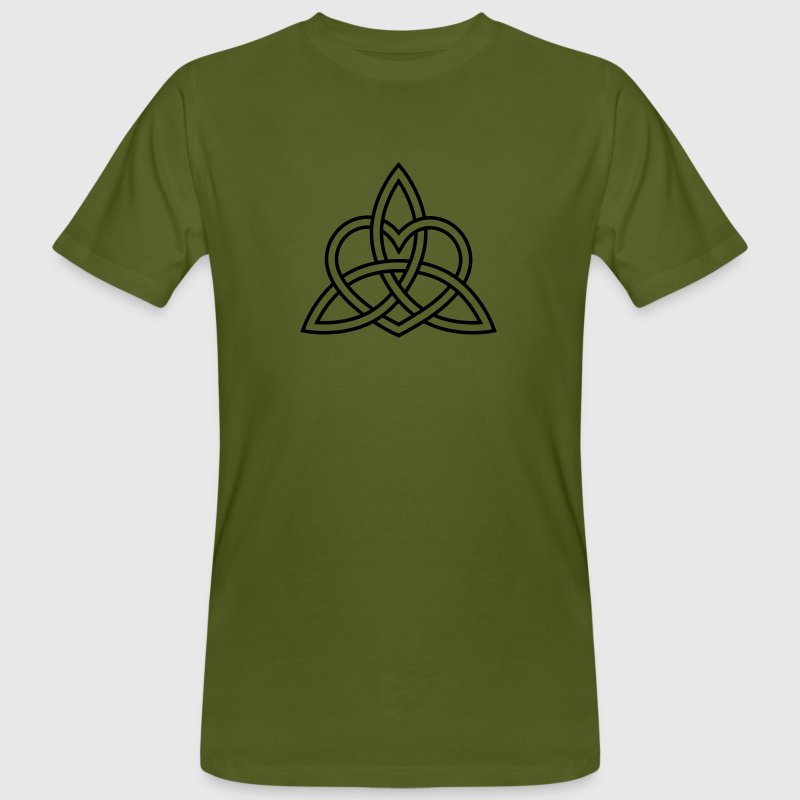 Celtic Heart Triquetra Trinity God Christ Spirit T-Shirts - Men's Organic T-shirt