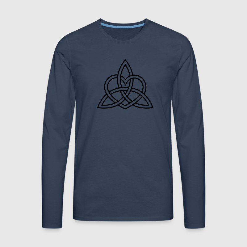 Celtic Heart Triquetra Trinity God Christ Spirit Long sleeve shirts - Men's Premium Longsleeve Shirt