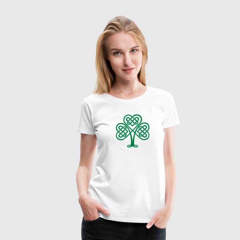 St. Patricks Day Shamrock Trinity & Eternal Love T-Shirts - Frauen Premium T-Shirt