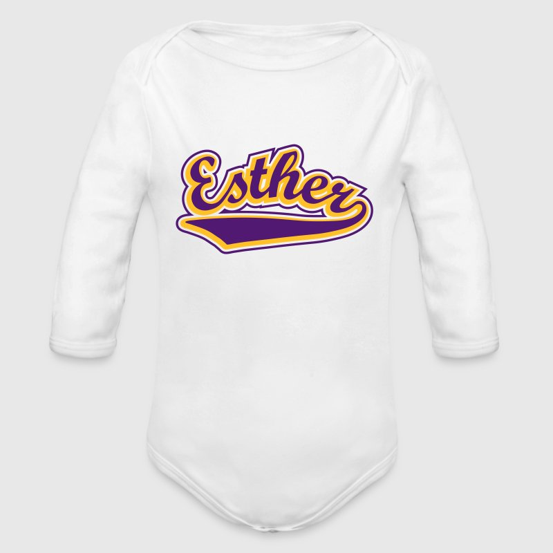 Esther - T-shirt Personalised with your name Hoodies - Organic Longsleeve Baby Bodysuit