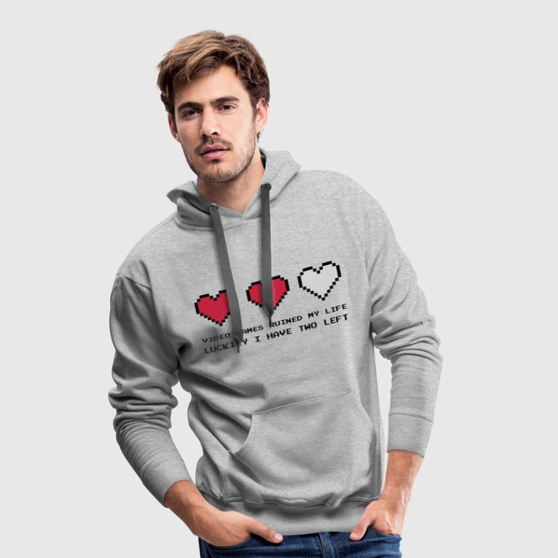 Video Games Ruined My Life Sudaderas - Sudadera con capucha premium para hombre