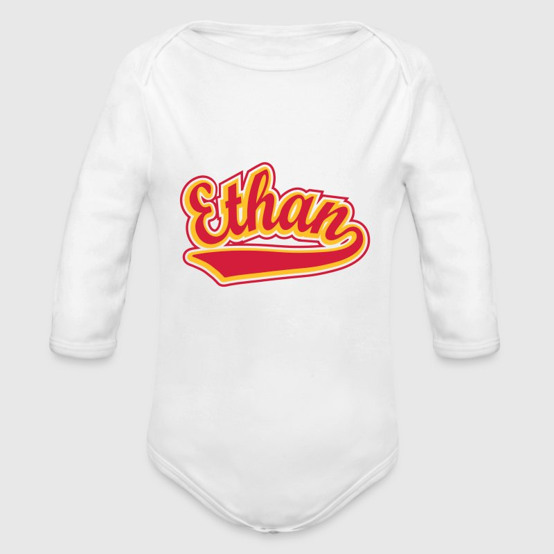 Ethan - T-shirt Personalised with your name Hoodies - Organic Longsleeve Baby Bodysuit