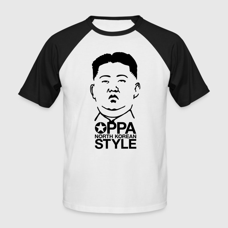 North Korean Style - Men's Baseball T-Shirt