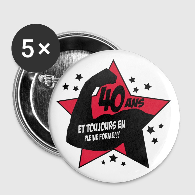 BADGE 40 ans  - Badge petit 25 mm