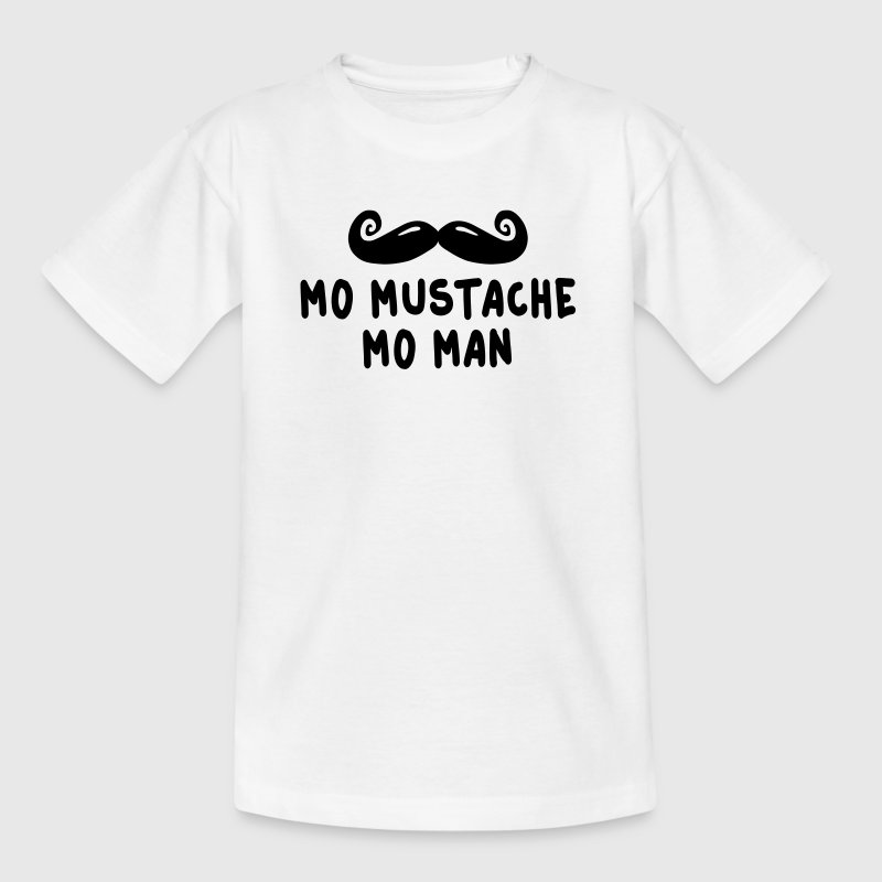 more mustache more man Shirts - Kinderen T-shirt