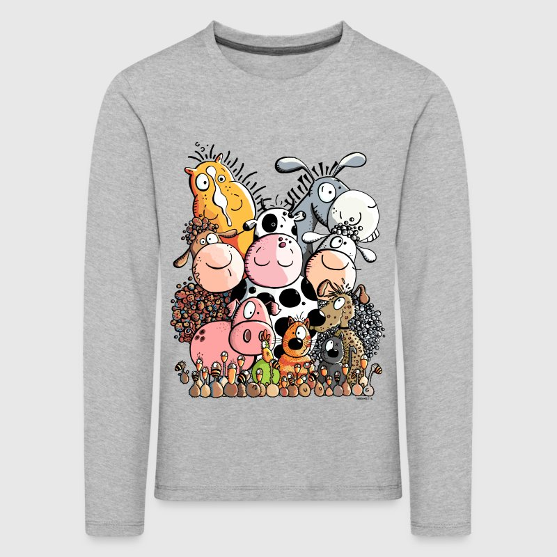 funny farm animals Long Sleeve Shirts - Kids' Premium Longsleeve Shirt