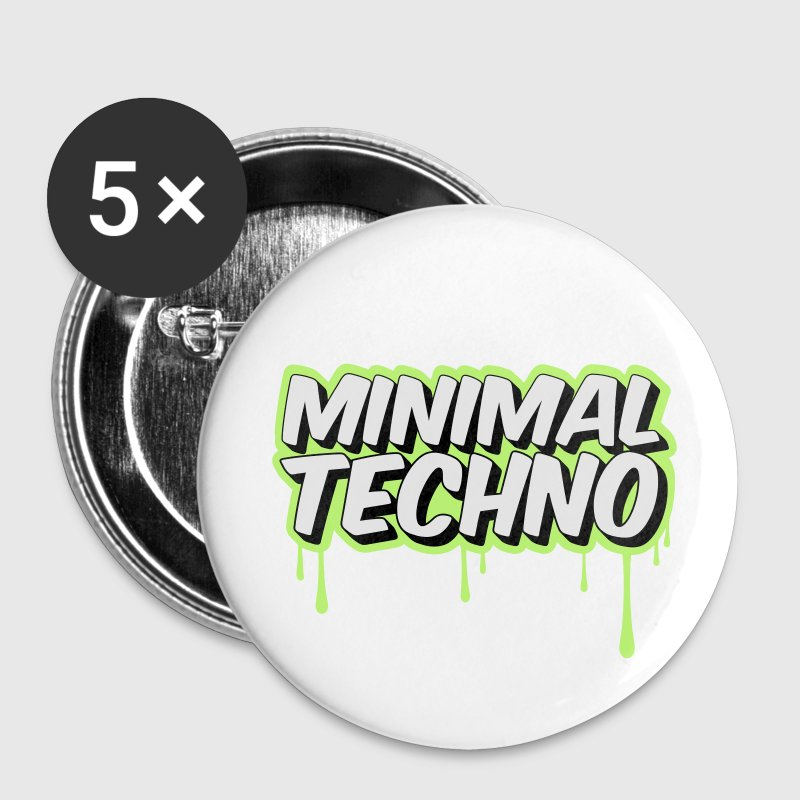 MINIMAL TECHNO Buttons & Anstecker - Buttons klein 25 mm