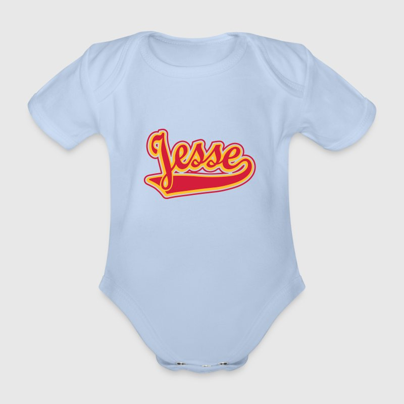 Jesse - T-shirt Personalised with your name Shirts - Organic Short-sleeved Baby Bodysuit