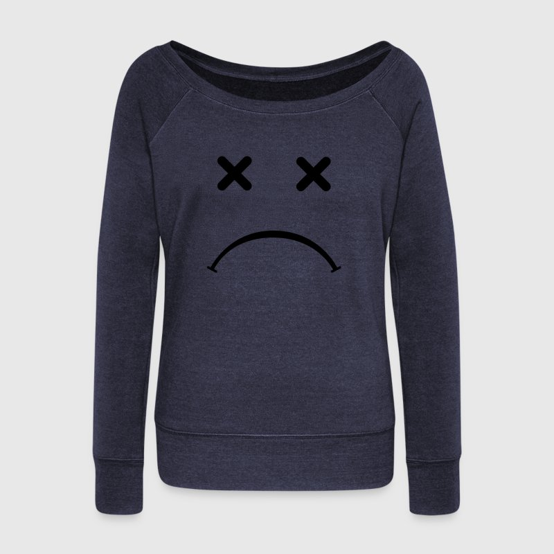 Sad Smiley - After Party Pullover & Hoodies - Frauen Pullover mit U-Boot-Ausschnitt von Bella