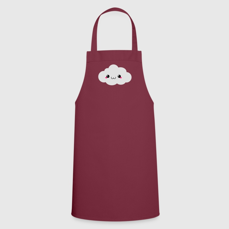 Happy Kawaii Cloud (nube) Delantales - Delantal de cocina