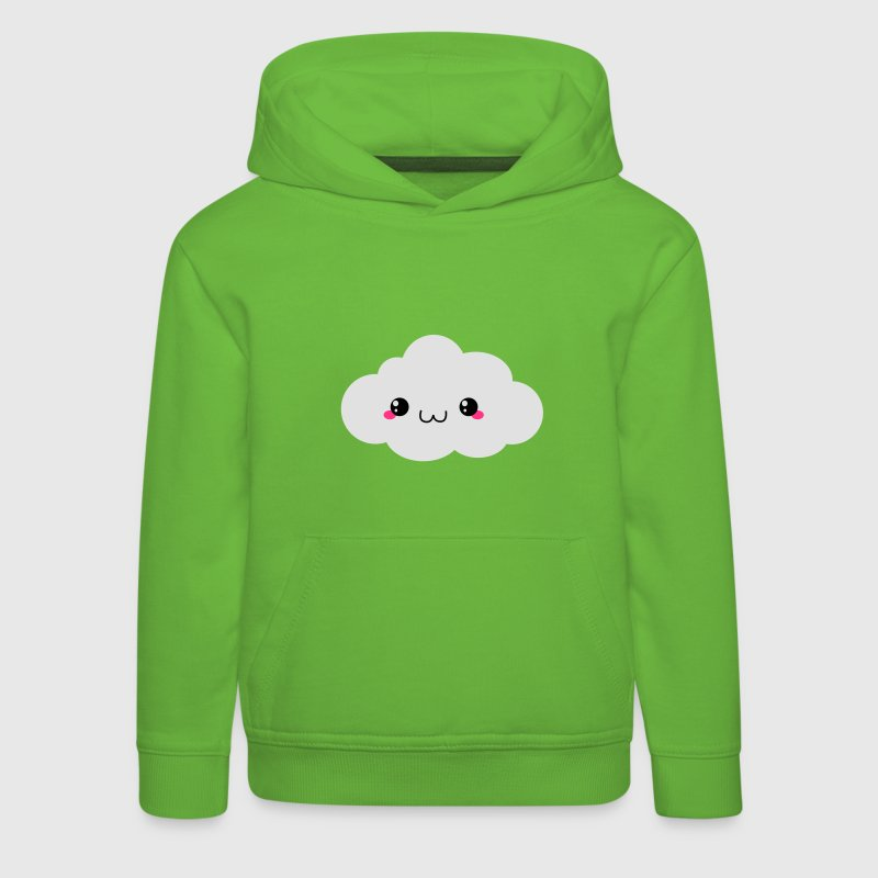 Happy Kawaii Cloud (wolk) Sweaters - Kinderen trui Premium met capuchon
