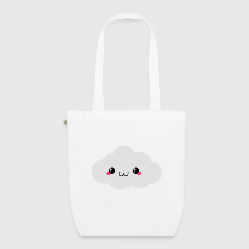 Happy Kawaii Cloud Bags & Backpacks - EarthPositive Tote Bag