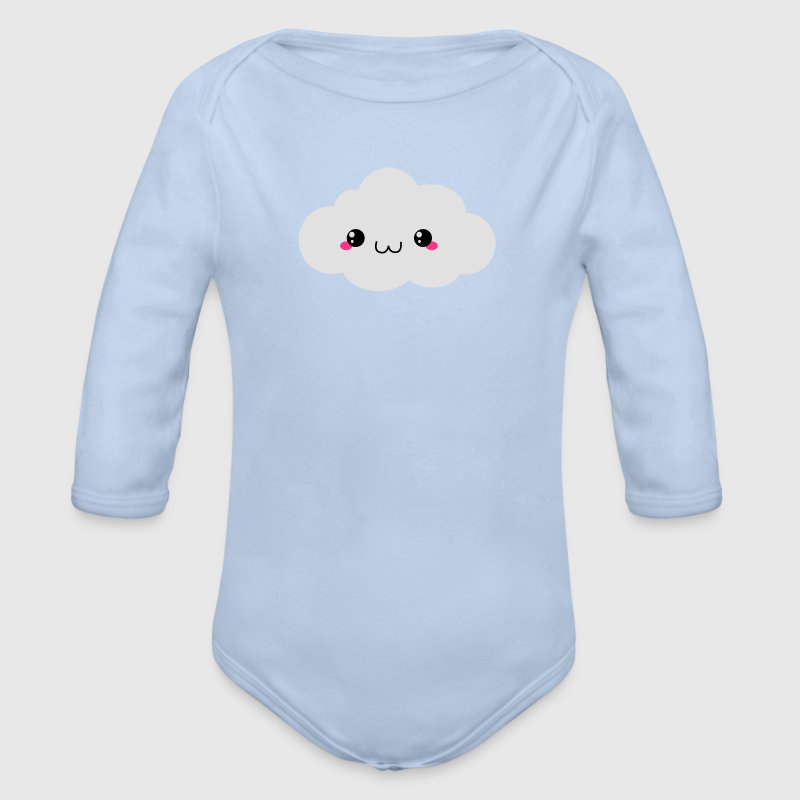 Happy Kawaii Cloud Hoodies - Organic Longsleeve Baby Bodysuit