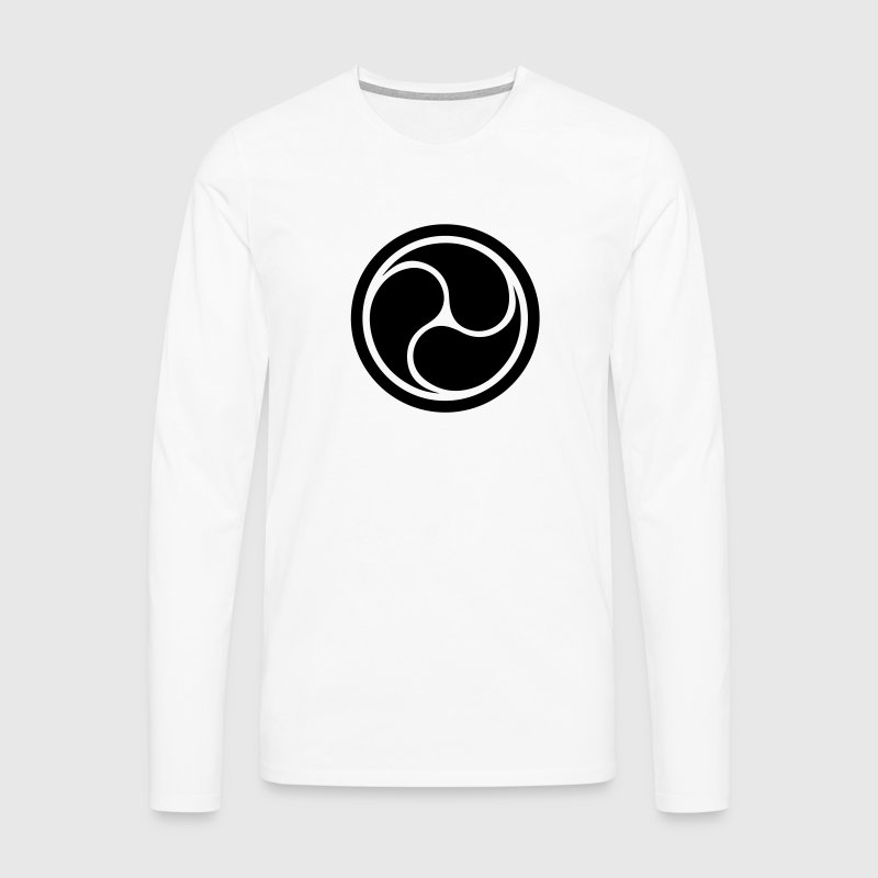 Triple Yin Yang, wheel of joy, Triforce symbol Long sleeve shirts - Men's Premium Longsleeve Shirt