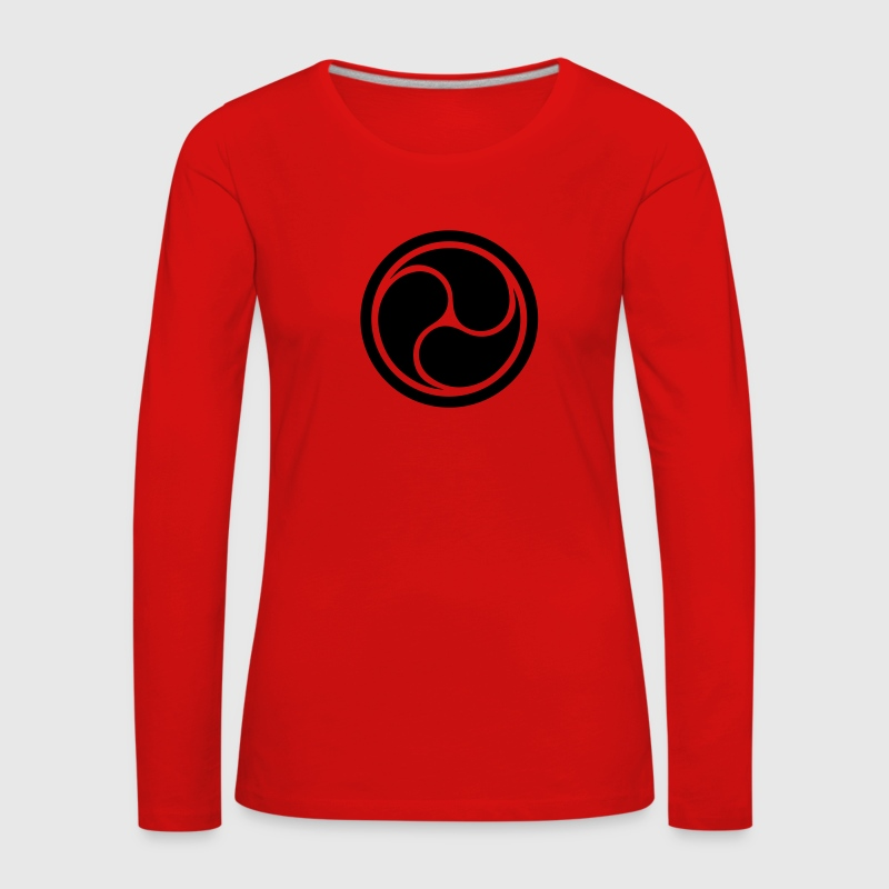 Triple Yin Yang, wheel of joy, Triforce symbol Long Sleeve Shirts - Women's Premium Longsleeve Shirt