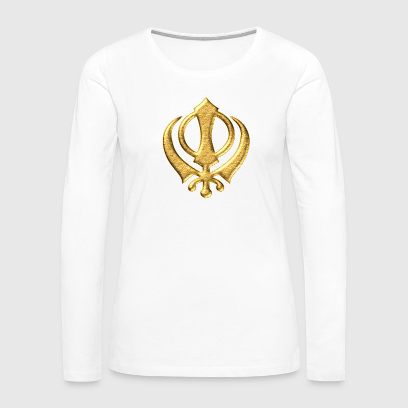 Khanda Sikh symbol swords religion Sikhism Long Sleeve Shirts - Women's Premium Longsleeve Shirt
