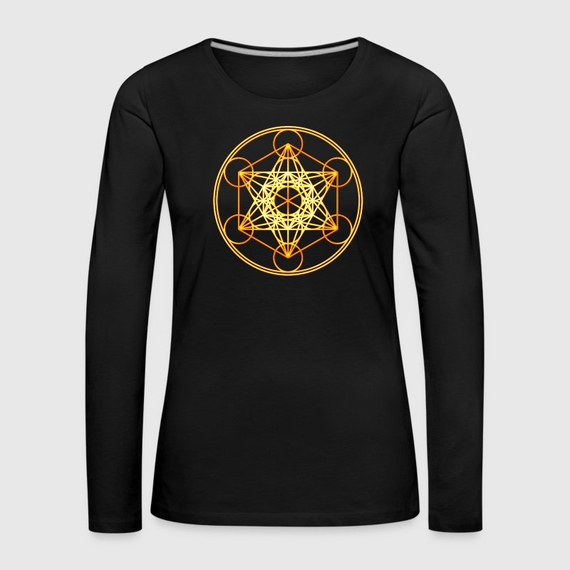 Metatron's Cube Sacred Geometry Mathematics Math Long Sleeve Shirts - Women's Premium Longsleeve Shirt