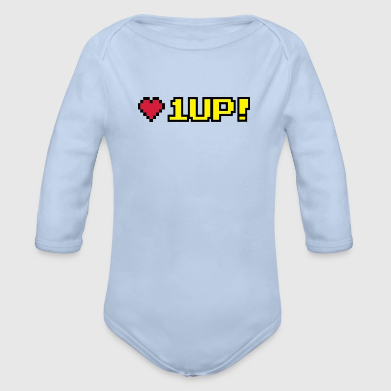 8-Bit 1UP Pullover & Hoodies - Baby Bio-Langarm-Body