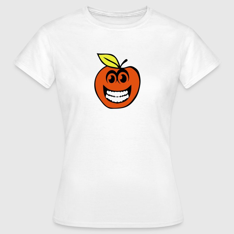 peche smiley sourire fruit 1 Tee shirts - T-shirt Femme