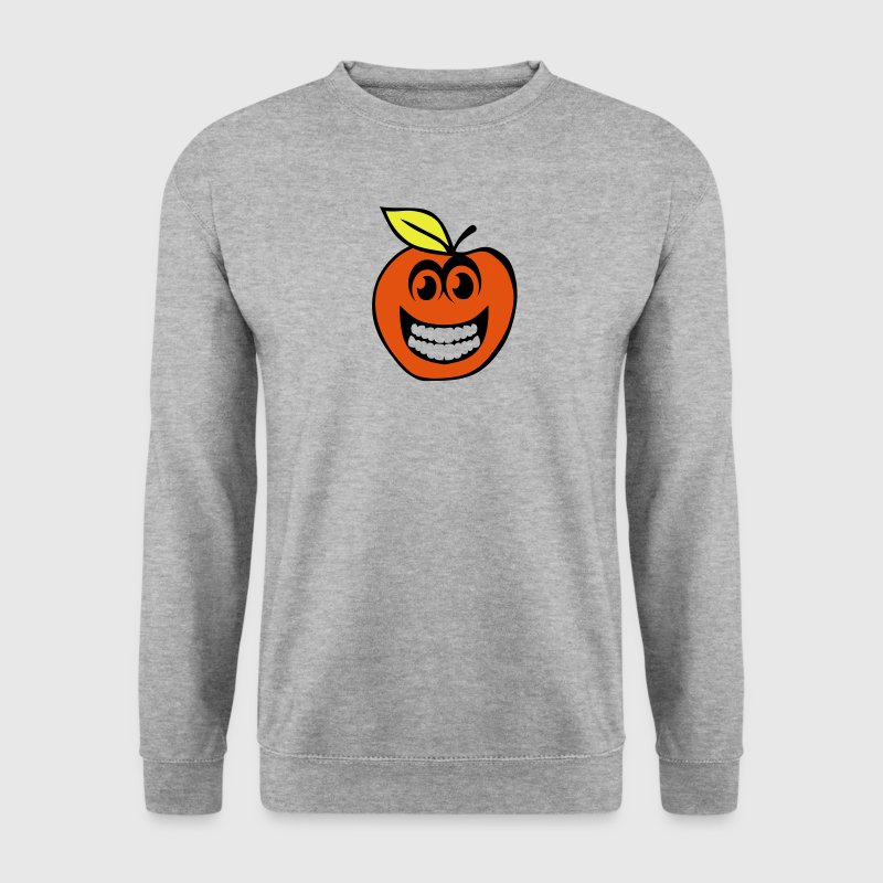 peche smiley sourire fruit 1 Sweat-shirts - Sweat-shirt Homme