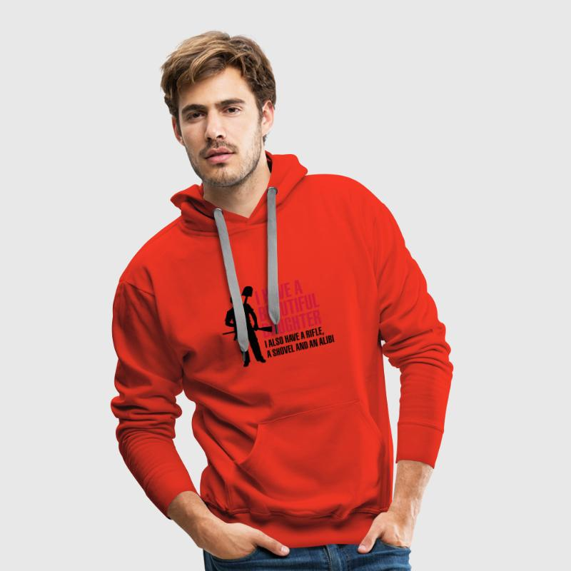 I have a beautiful daughter Sweaters - Mannen Premium hoodie