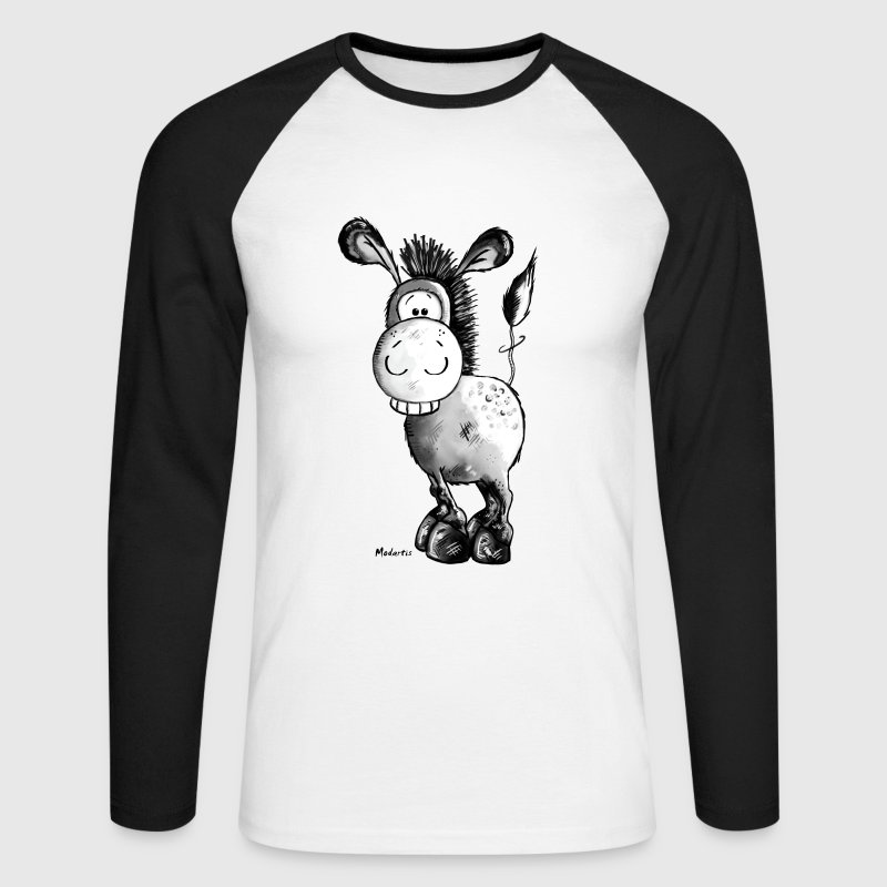 Funny Donkey - Horse - Animal Long sleeve shirts - Men's Long Sleeve Baseball T-Shirt