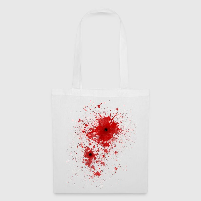 Blood spatter / bullet wound - Costume  Bags & Backpacks - Tote Bag