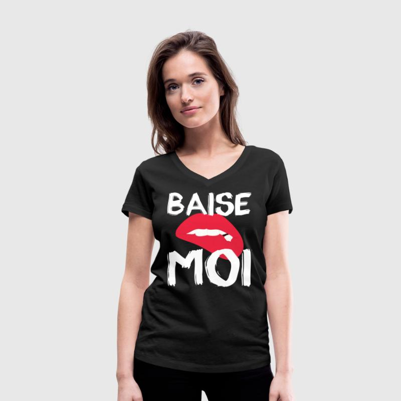 Baise Moi T-Shirts - Women's Organic V-Neck T-Shirt by Stanley & Stella