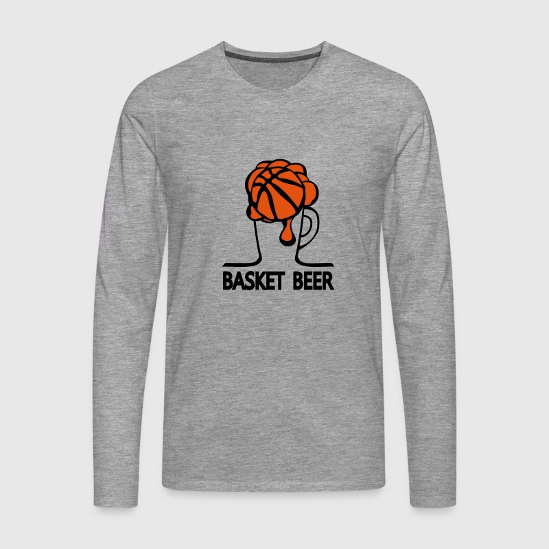 basket beer verre humour sport 1 Tee shirts manches longues - T-shirt manches longues Premium Homme