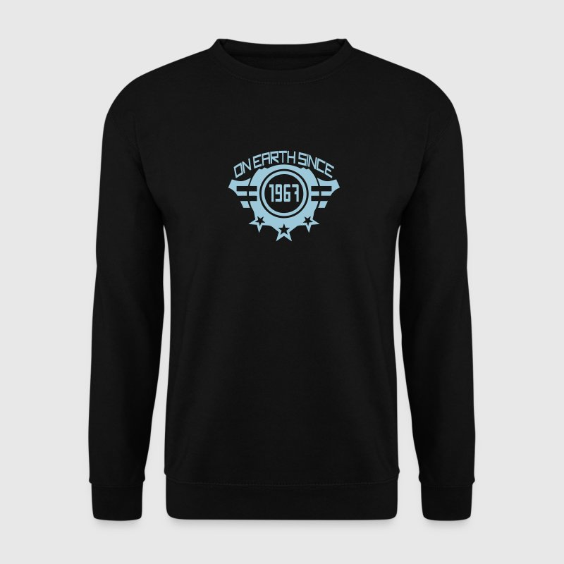 1967 on earth since logo anniversaire 1 Sweat-shirts - Sweat-shirt Homme