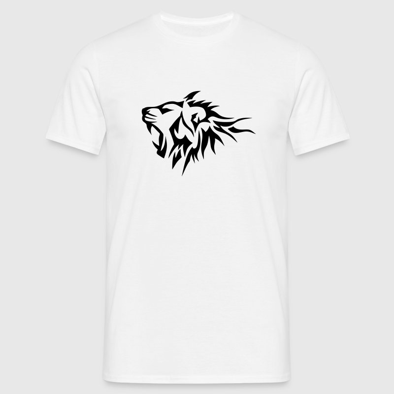 t shirt lion tribal tatouage dessin 14026 spreadshirt. Black Bedroom Furniture Sets. Home Design Ideas