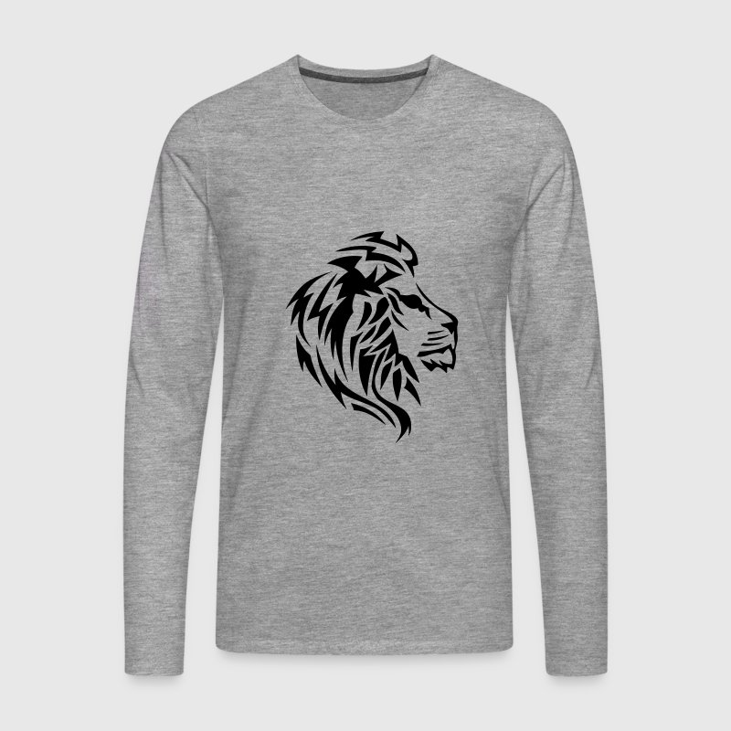 t shirt manches longues lion tribal tatouage dessin 14023 spreadshirt. Black Bedroom Furniture Sets. Home Design Ideas