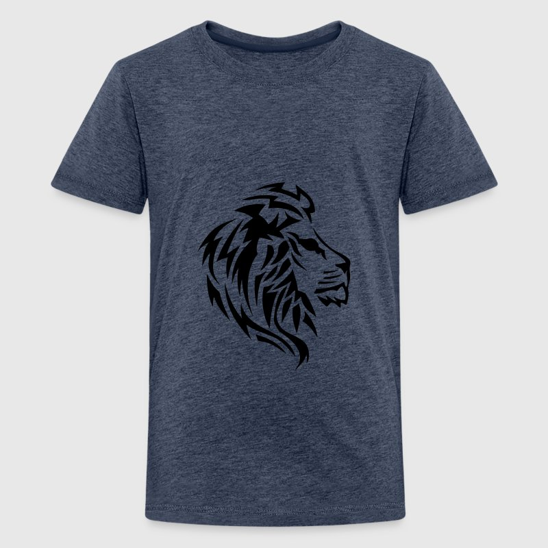 lion tribal tatouage dessin 14023 Tee shirts - T-shirt Premium Ado
